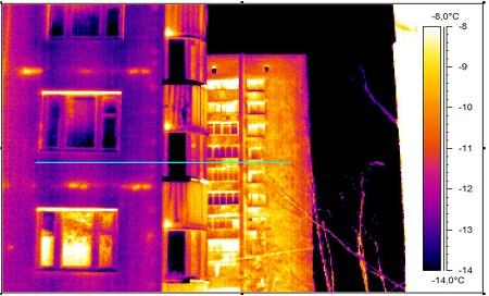 Термограмма типового многоэтажного дома